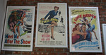 Authentic framed movie posters