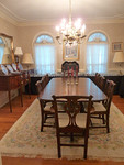 Henkel Harris Dining Room Table w/8 Chipendale style chairs, multiple leaves and table pads.  Condition is superb with hardly and appreciable wear. 