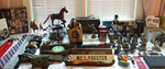 Military table, Franklin Mint pewter and more!