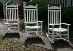 Set of three porch rockers in excellent condition.  These will go fast...