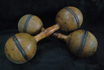 Early wooden dumbells