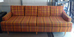 The real deal, vintage sofa with is possibly the original fabric in very nice condition!