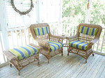 Bauer 3 piece wicker set