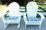 Adirondack chair and rocker