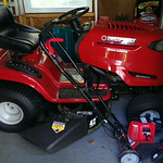 Super clean Troybilt mower, recently serviced.  Edger was recently purchased and lightly used.