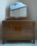 Matching inlaid dresser w/mirror