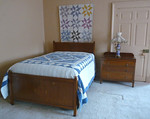 Upstairs, antique full bedroom set