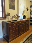 Main house credenza w/file and drawer speace