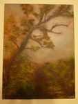Original art of plantation tree
