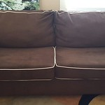 Super clean ultrasuede sleeper sofa