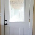 Exterior door with built-in blinds