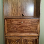 Affordable cabinet with drop down desk.
