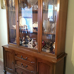 Vintage china cabinet, clean condition
