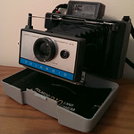 Clean vintage Polaroid camera