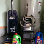 Carpet steam vac with soap and upright vac with filter