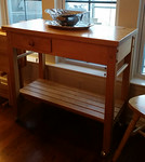 Clean rolling cart/kitchen island