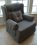 Clean upholstered chair