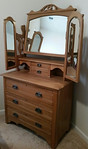 Antique chest w/mirror