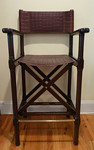 Stiles Brothers/Bauer director chair.  One of a pair.  Please note one needs a repair to the lower rung.