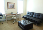 Office w/click clack sofa and ottoman