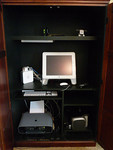 Computer armoire interior