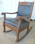 Older oak rocker