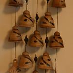 Artisan pottery wind chimes