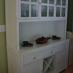 Pottery Barn style painted breakfront
