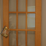French door that was only installed inside.