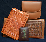 Vintage leather wallets and money clip