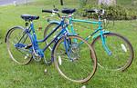 Pair of super clean vintage Montgomery Wards bicycles