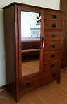 Mission style armoire/chest