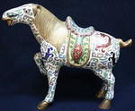 Large cloisonne horse