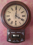 Antique clock with MOP inlay