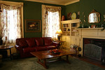 Den w/leather sofa that matches chair and ottoman