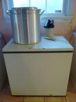 Chest freezer, steam pot