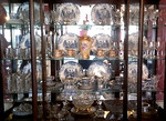 Lots of crystal stem wares and china