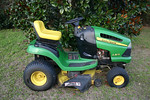 John Deere lawn tractor, 171 hours, serviced bi-annually, starts right up.