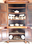 Primitive corner cupboard
