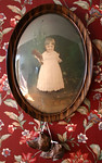 Instant ancestor in convex glass frame