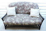 Sunroom loveseat set, made of metal.