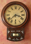 Antique wall clock with MOP inlays