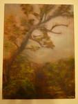Original art of plantation tree