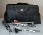 Physician's bag with instruments
