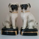 Pair of pug bookends.  We have LOTS of pug items.