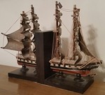 Nicely made ship's bookends