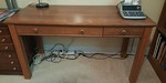 Clean desk with built in keyboard tray drawer