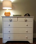 Clean painted dresser