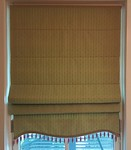Custom Roman shades.  (3) available