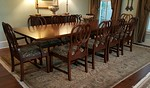 Large dining table and chairs.  Some flaws.